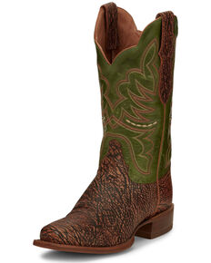 Justin  Women's Rumer Benedictine Western Boots - Wide Square Toe, Multi, hi-res