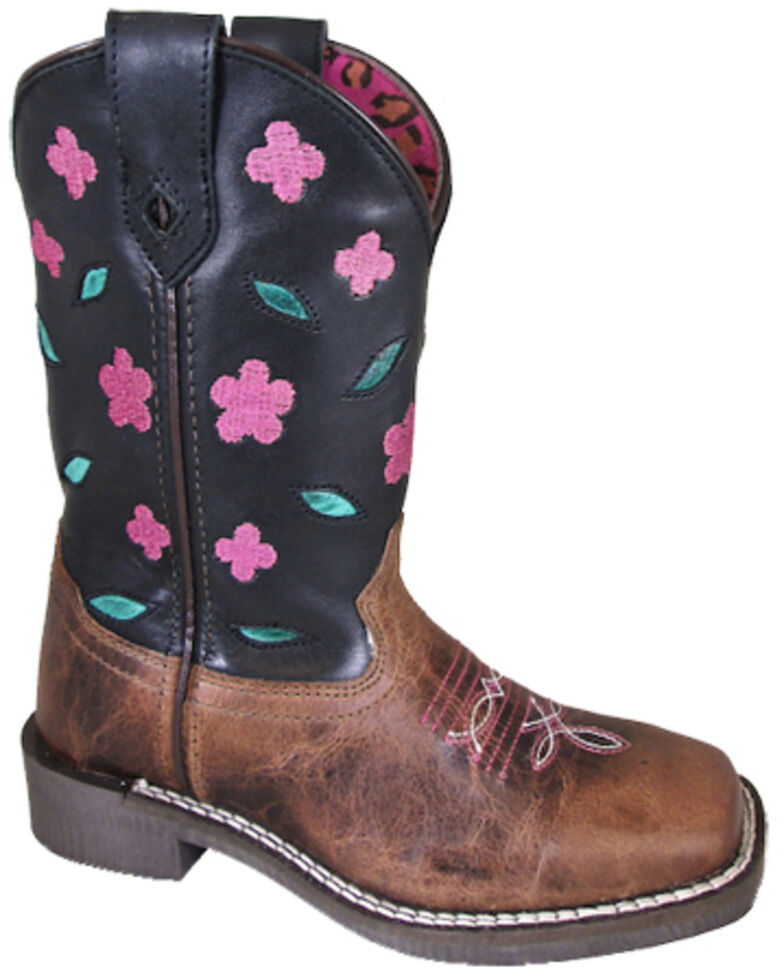 Smoky Mountain Boys' Dogwood Western Boots - Square Toe, Brown, hi-res