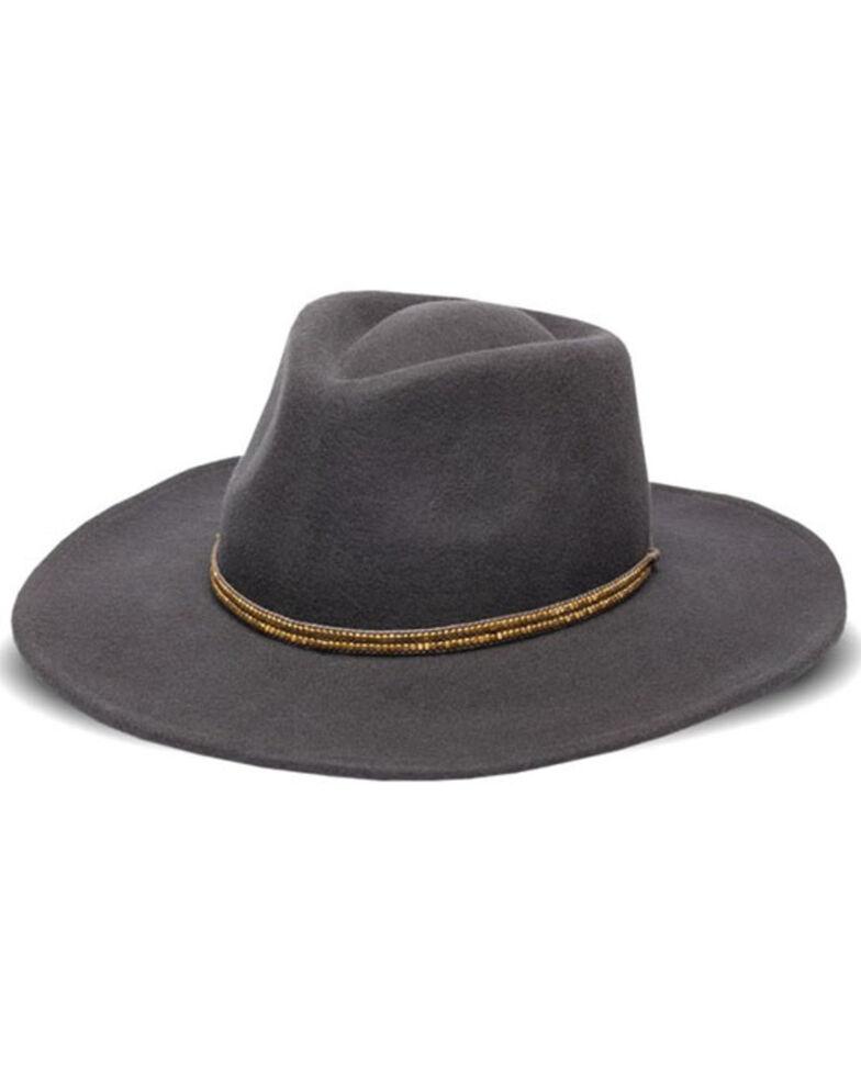 Nikki Beach Women's Mica Wool Felt Western Hat , Grey, hi-res