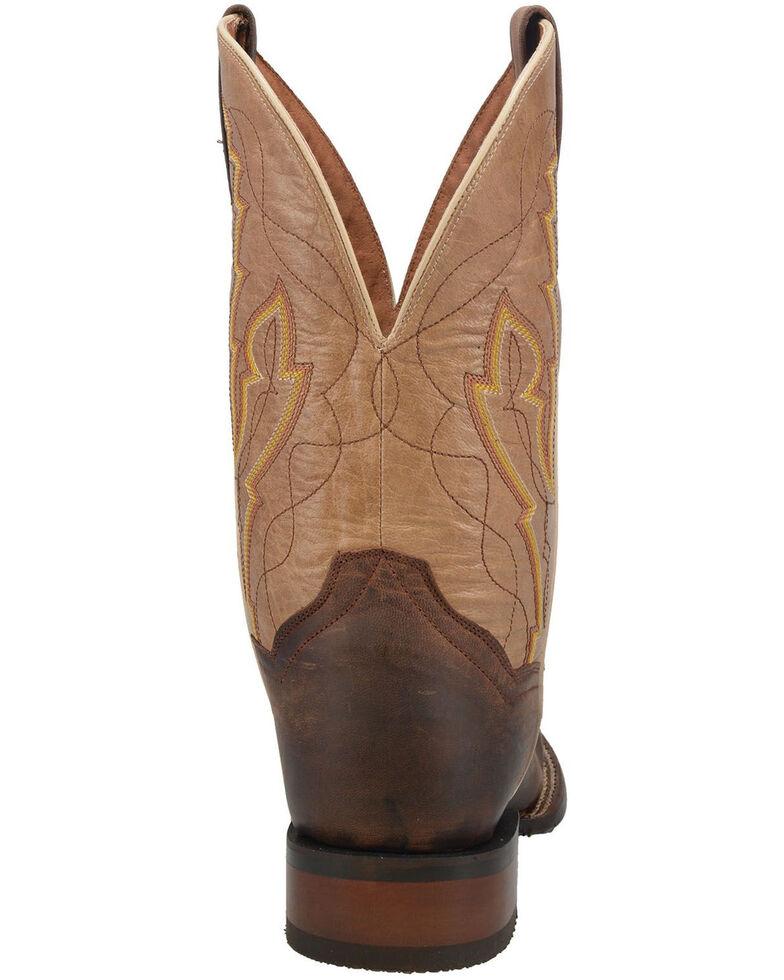 Dan Post Men's Garrison Western Boots - Wide Square Toe, Brown, hi-res