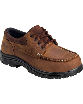 Nautilus Men's Electrical Hazard Leather Shoes - Composite Toe, Brown, hi-res