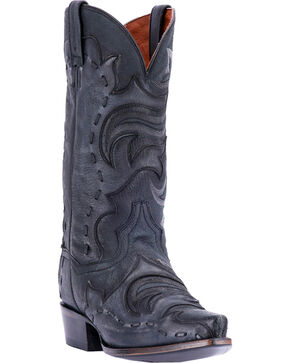 Dan Post Men's Black Hensley Western Boots - Snip Toe , Black, hi-res