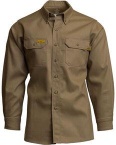 Lapco Men's FR 6oz. Gold Label Uniform Shirt - Big & Tall, Beige/khaki, hi-res