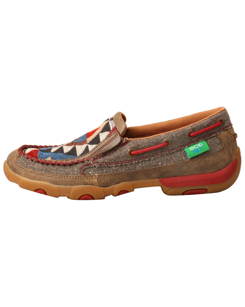 Twisted X Women's ECO TWX Driving Moccasin Shoes - Moc Toe, Grey, hi-res