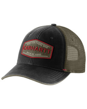 Carhartt Men's Black Silvermine Trucker Cap, Black, hi-res