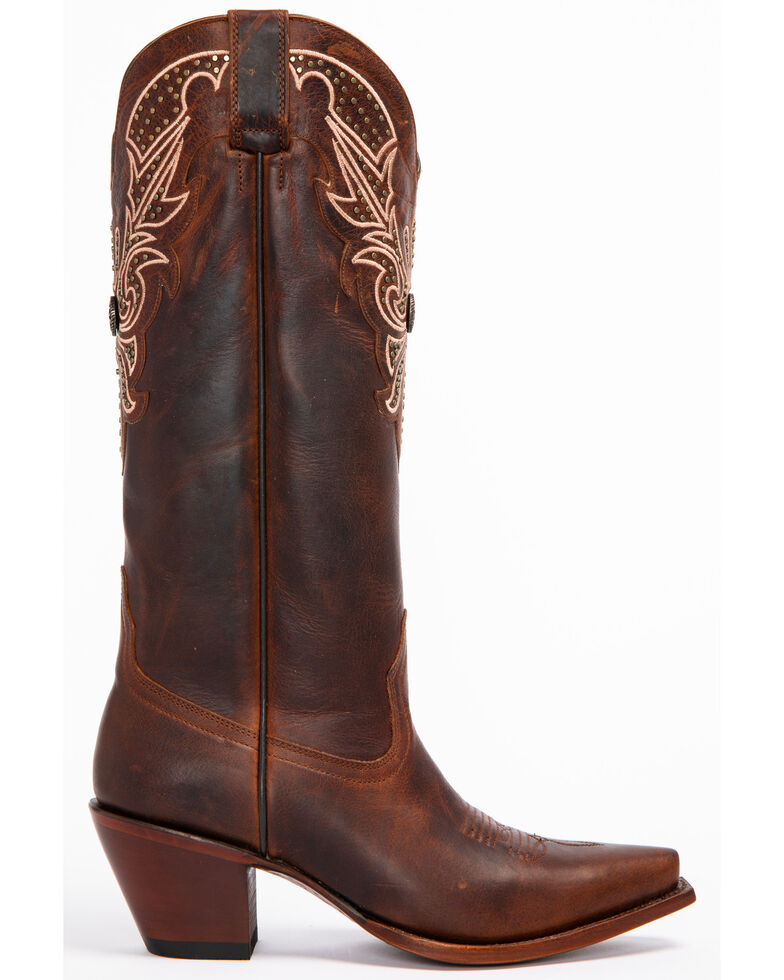 Shyanne Women's Concho Western Boots - Snip Toe, Brown, hi-res