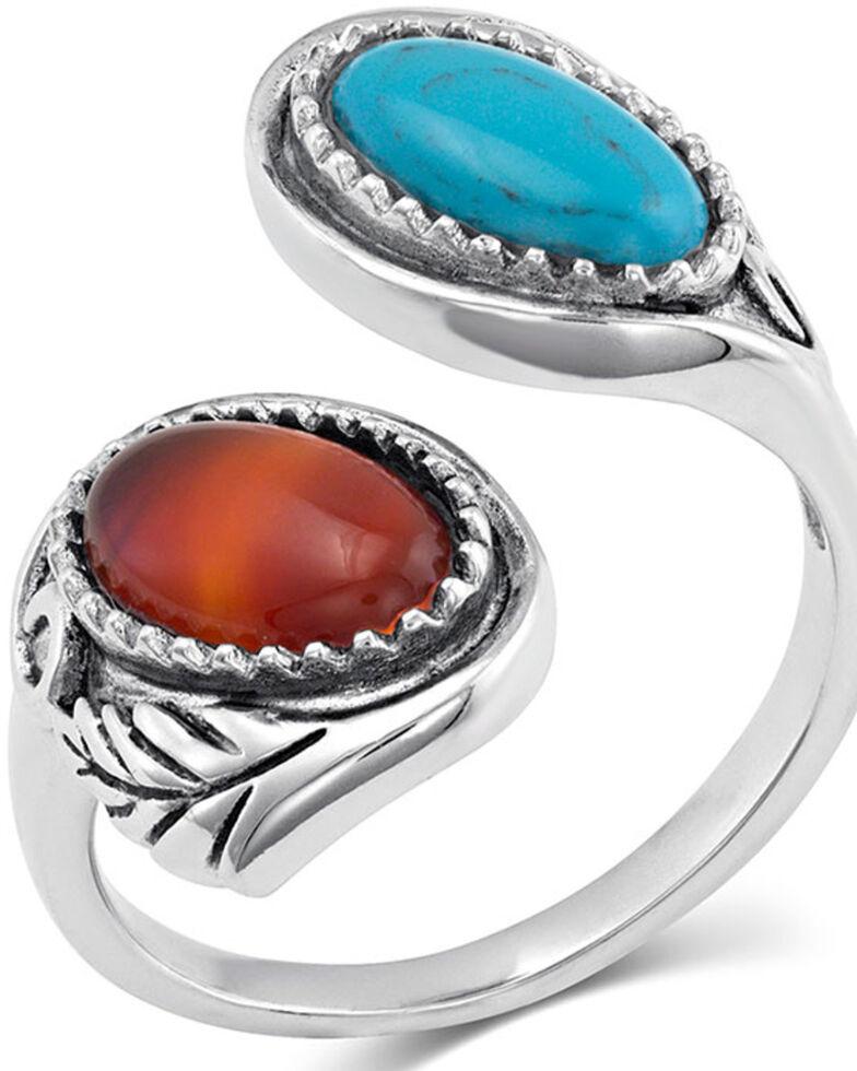 Montana Silversmiths Women's Earth & Sky Adjustable Ring, Silver, hi-res
