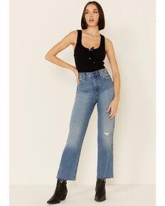 Wrangler Women's Wild West Straight Leg Jeans, Blue, hi-res