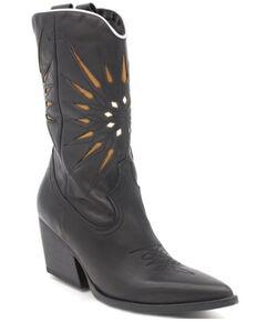Golo Women's Contrasting Sun Fashion Booties - Snip Toe, Black, hi-res