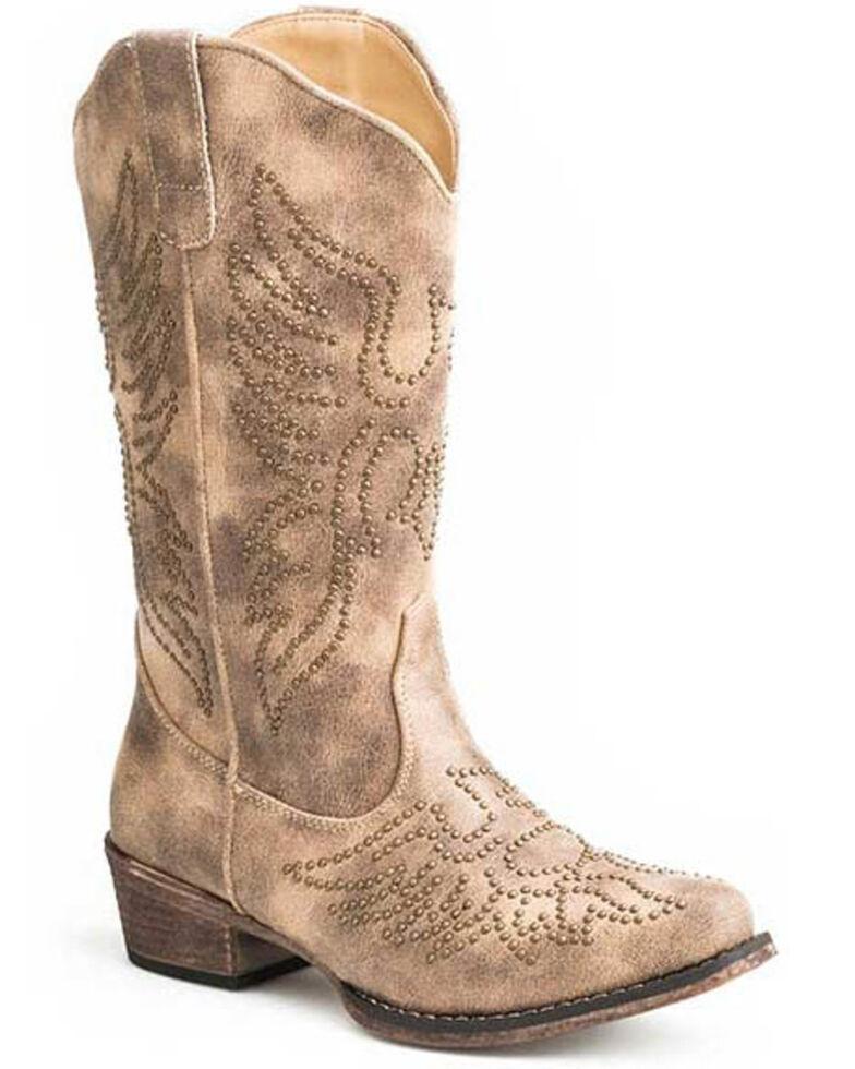 Roper Women's Vintage Beige Western Boots - Snip Toe, Tan, hi-res