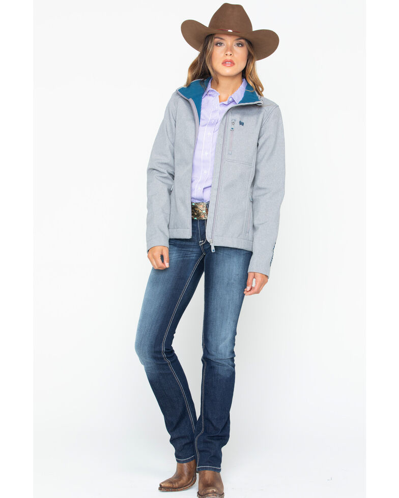 Cinch Women's Western Softshell Jacket , Grey, hi-res