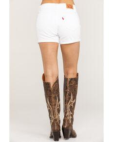 Levi's Women's Mid Length Shorts, White, hi-res