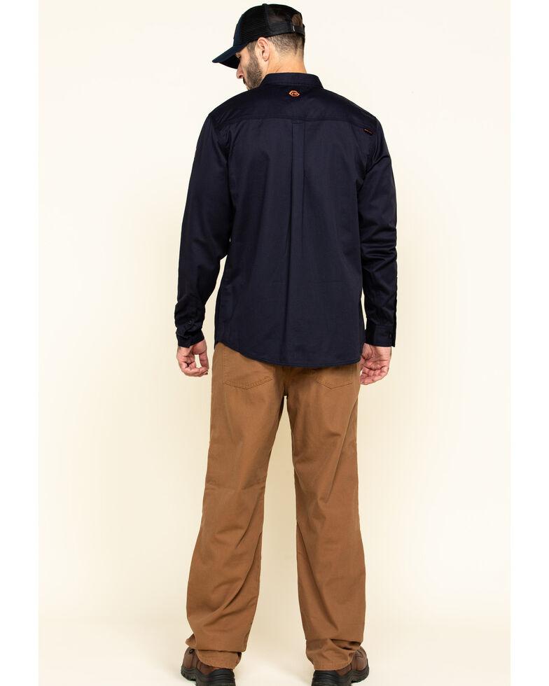 Hawx Men's Brown FR Denim Straight Work Jeans , Brown, hi-res