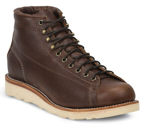Chippewa Men's Lace-to-Toe Bridgemen Boots - Round Toe, Dark Brown, hi-res