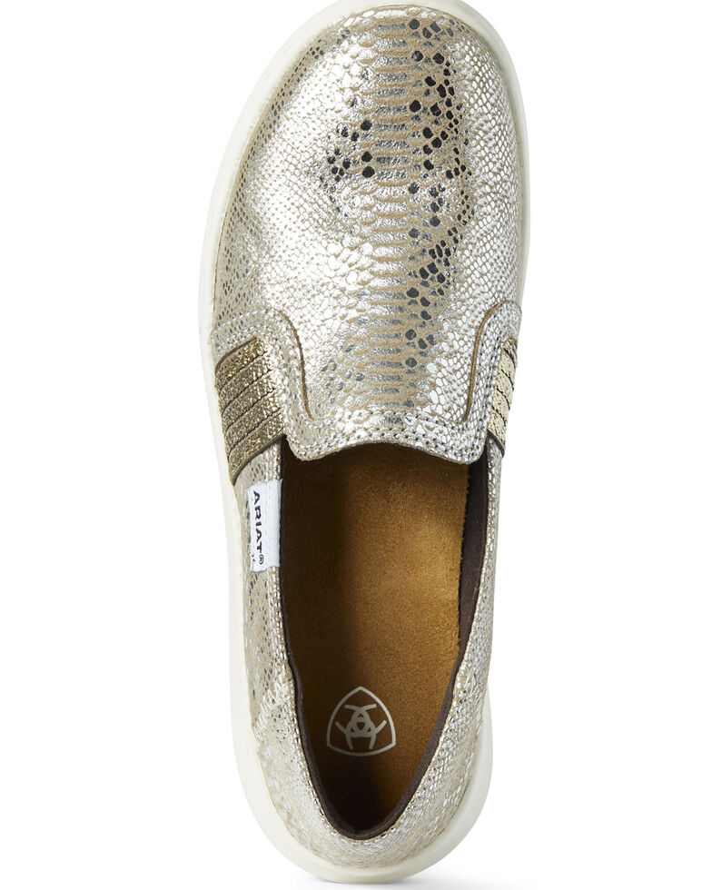 Ariat Women's Snake Print Ryder Shoes - Round Toe, Silver, hi-res