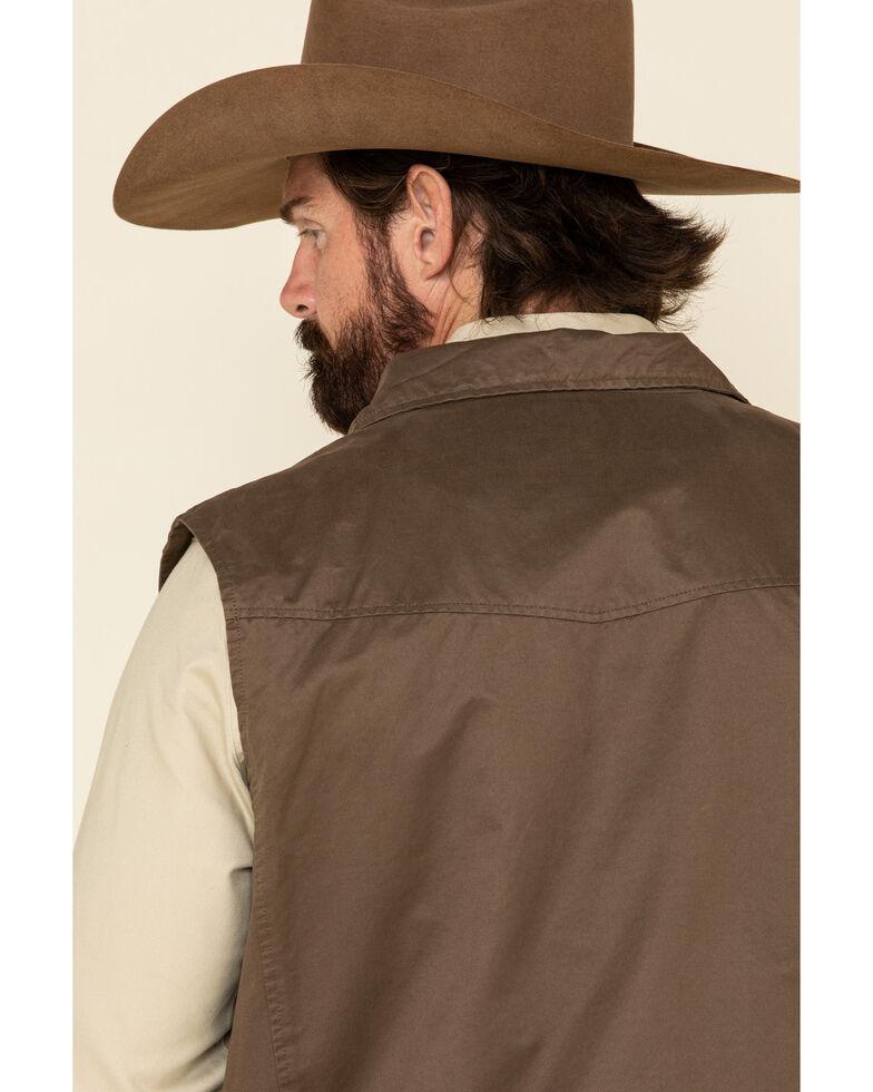 Powder River Outfitters Men's Camel Cotton Zip-Front Vest , Tan, hi-res