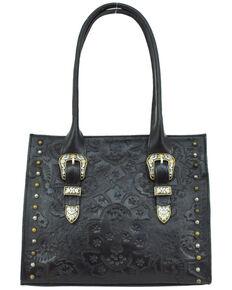 American West Women's Heritage Large Tote Bag, Black, hi-res