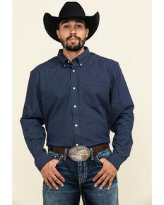 Cody James Core Men's Space Cowboy Geo Print Long Sleeve Western Shirt - Big , Navy, hi-res
