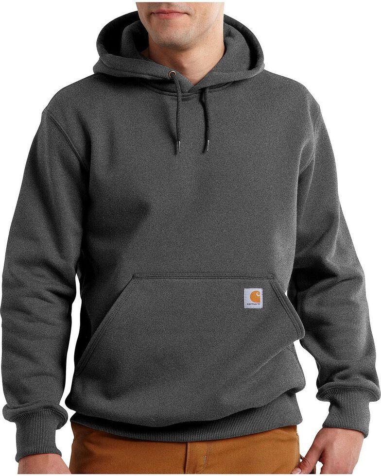 Carhartt Rain Defender Paxton Heavyweight Hooded Sweatshirt - Big & Tall, Charcoal, hi-res