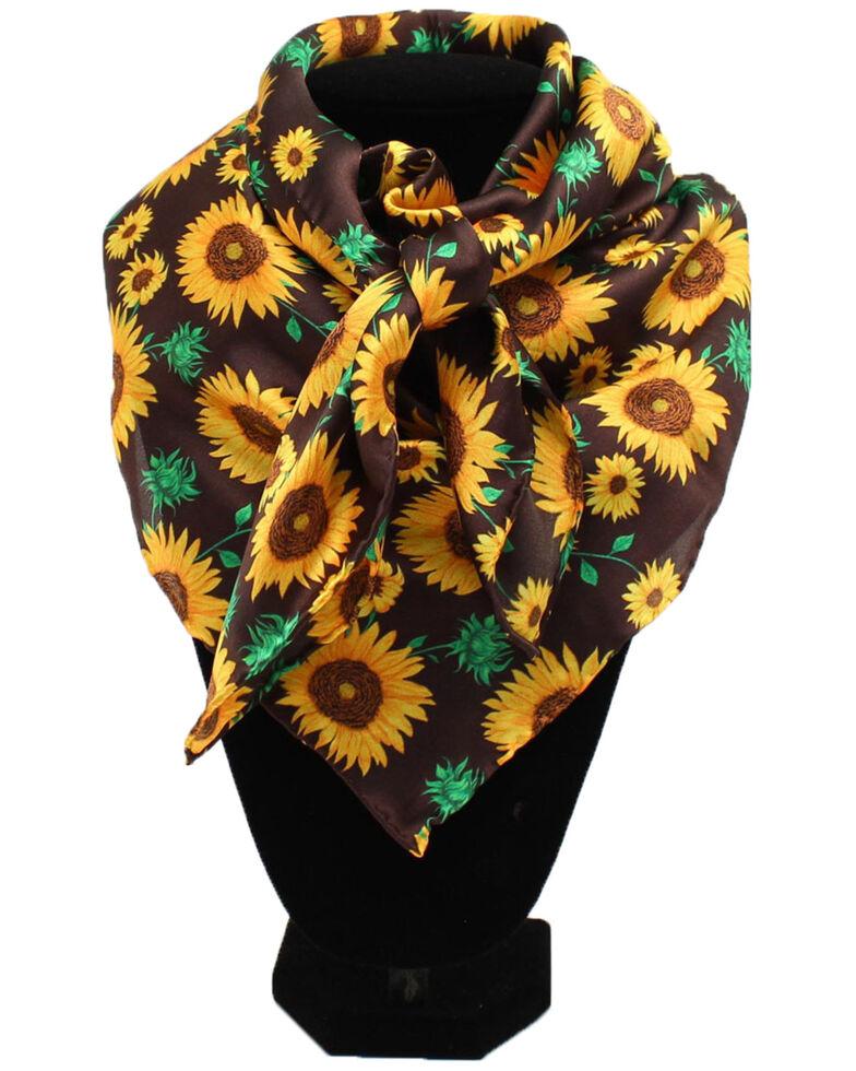 M&F Western Women's Sunflower Print Scarf, Multi, hi-res