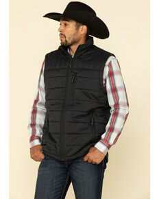 Cody James Core Men's Man Grove Quilted Puffer Vest - Tall, Black, hi-res