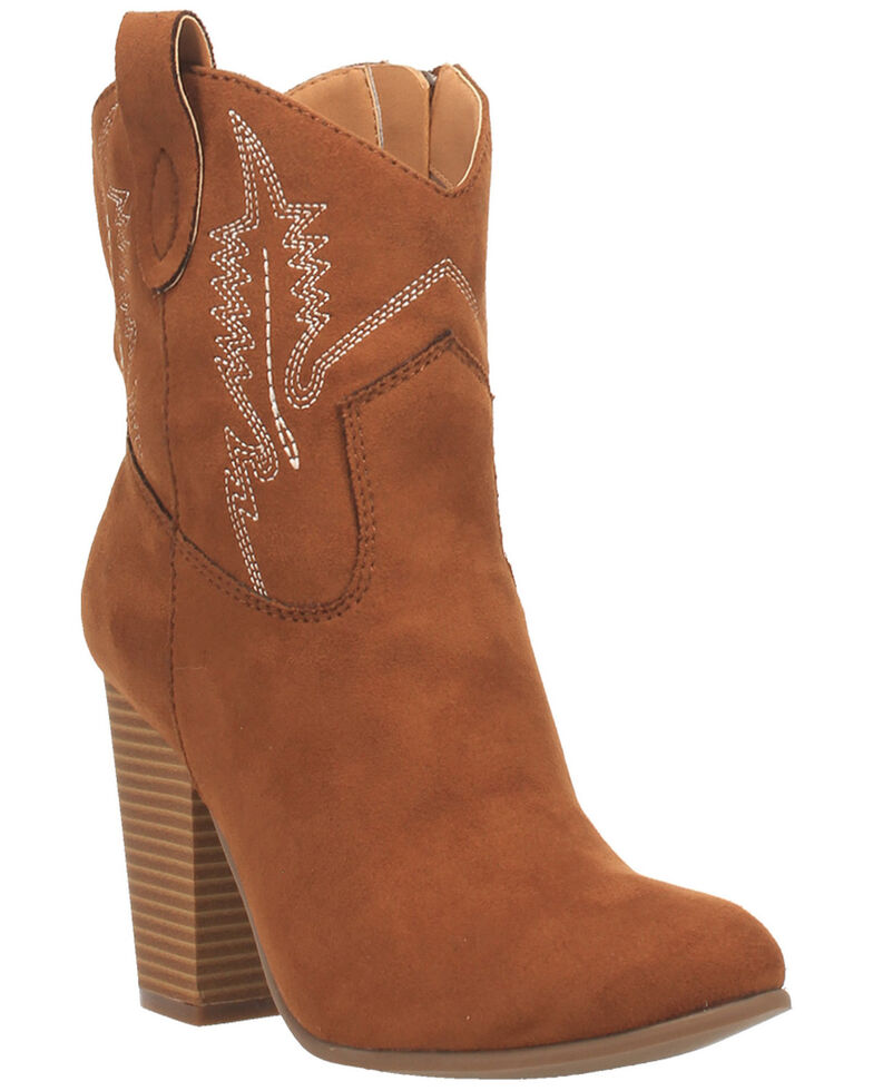 Code West Women's Slayer Fashion Booties - Round Toe, Tan, hi-res
