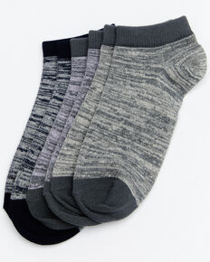 Shyanne Women's Space Dye No Show Socks - 3 Pack, Multi, hi-res