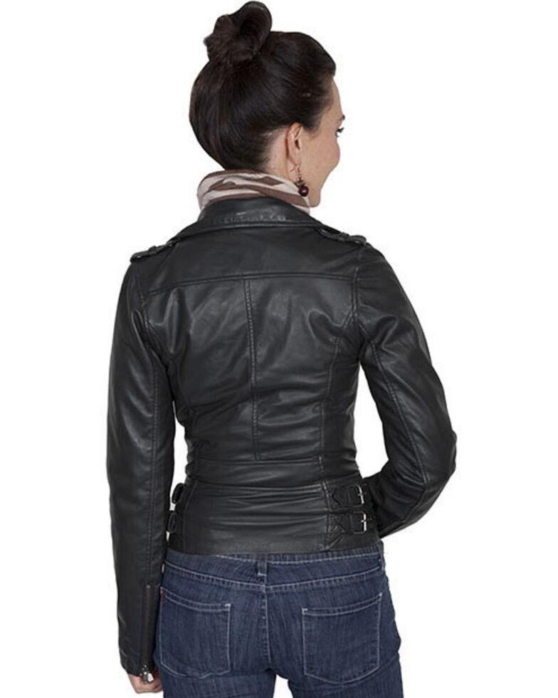 Scully Leatherwear Motorcycle Lamb Jacket , Black, hi-res