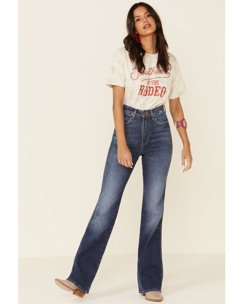 American Highway Women's Sweetheart Rodeo Graphic Tee, Ivory, hi-res