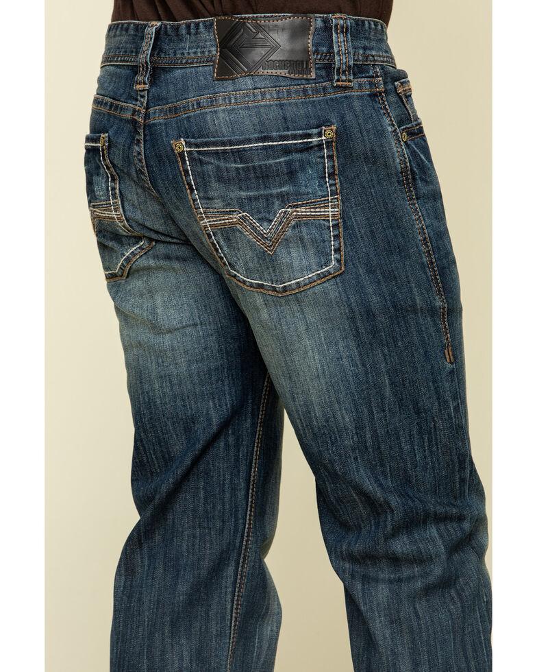 Rock & Roll Denim Men's Pistol Dark Stretch Straight Jeans , Blue, hi-res