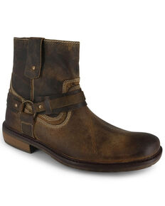 Evolutions Men's Native II Zipper Boots - Square Toe, Tan, hi-res