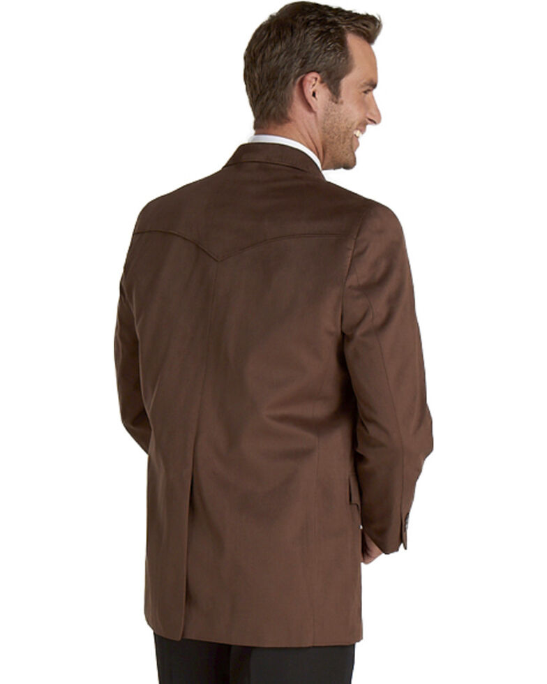 Circle S Microsuede Sport Coat - Reg, Tall, Chestnut, hi-res