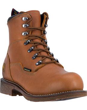"Dan Post Honey Tan Detour Waterproof 7"" Lace-Up Boots - Steel Toe , Honey, hi-res"