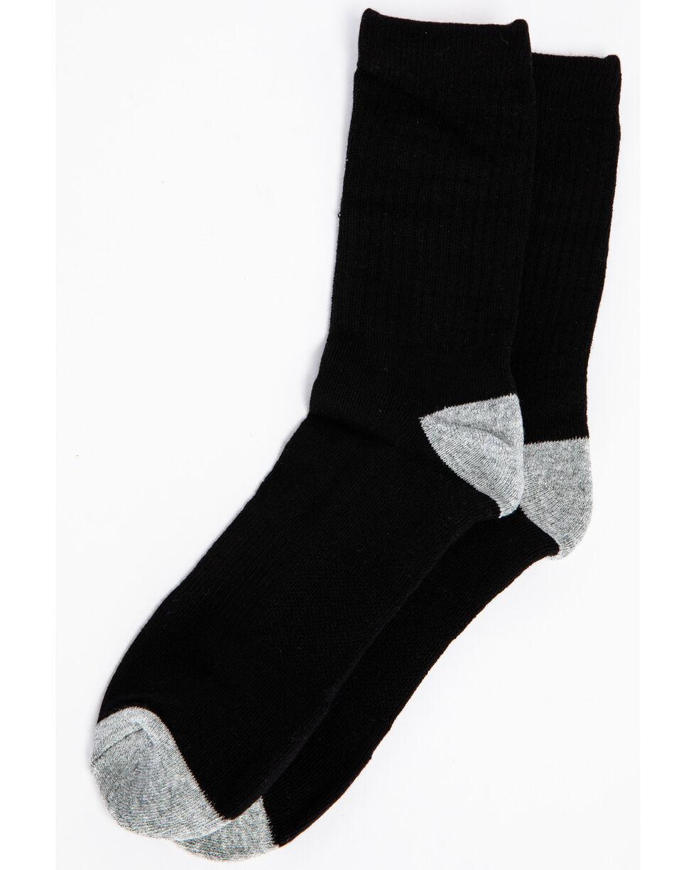Cody James Men's Solid 3-Pack Crew Socks, Black, hi-res