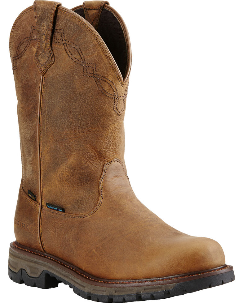 edb405588fc Ariat Men's Insulated Conquest Waterproof Pull-On Hunting Boots - Round Toe