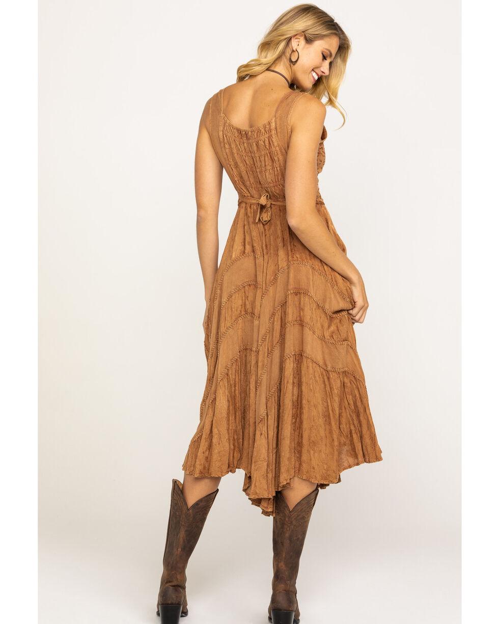 Scully Women's Lace-Up Jacquard Dress, Beige/khaki, hi-res
