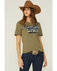 Ranch Dress'n Cowgirl Graphic Tee, Olive, hi-res