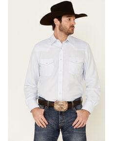Roper Men's Light Blue Classic Tone On Tone Solid Long Sleeve Snap Western Shirt , Light Blue, hi-res