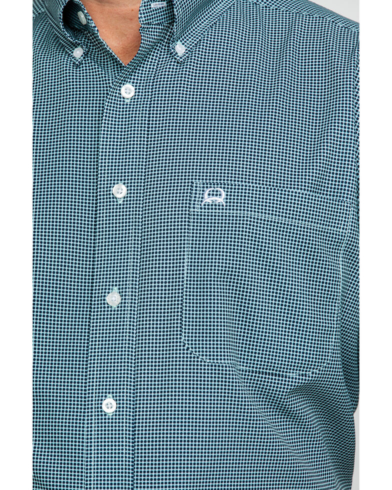 Cinch Men's Multi Small Check Plaid Short Sleeve Western Shirt , Multi, hi-res