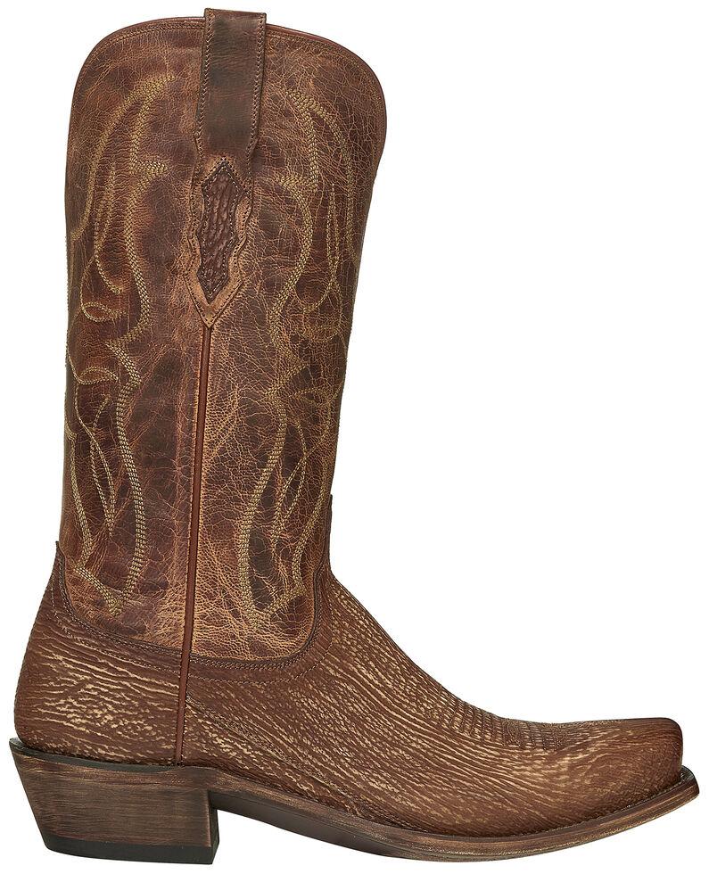 Lucchese Handmade Cognac Carl Sharkskin Cowboy Boots - Snip Toe, Cognac, hi-res