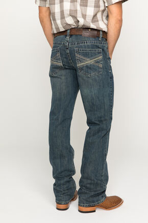 Cody James Men's Dusty Trail Slim Fit Boot Cut Jeans, Indigo, hi-res