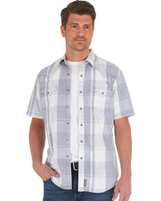 Wrangler Retro Men's Grey Premium Western Shirt , Grey, hi-res