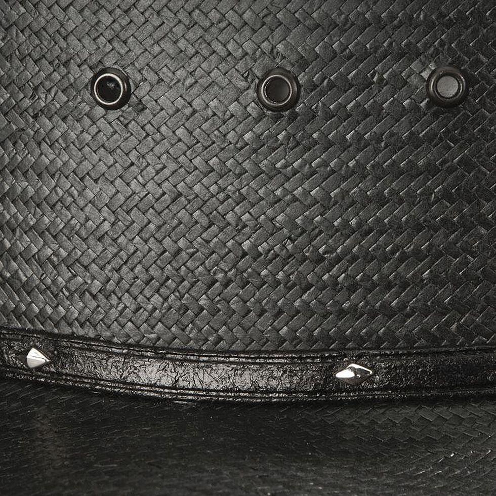 Stetson Stallion Bullock Black Shapeable Straw Cowboy Hat, Black, hi-res
