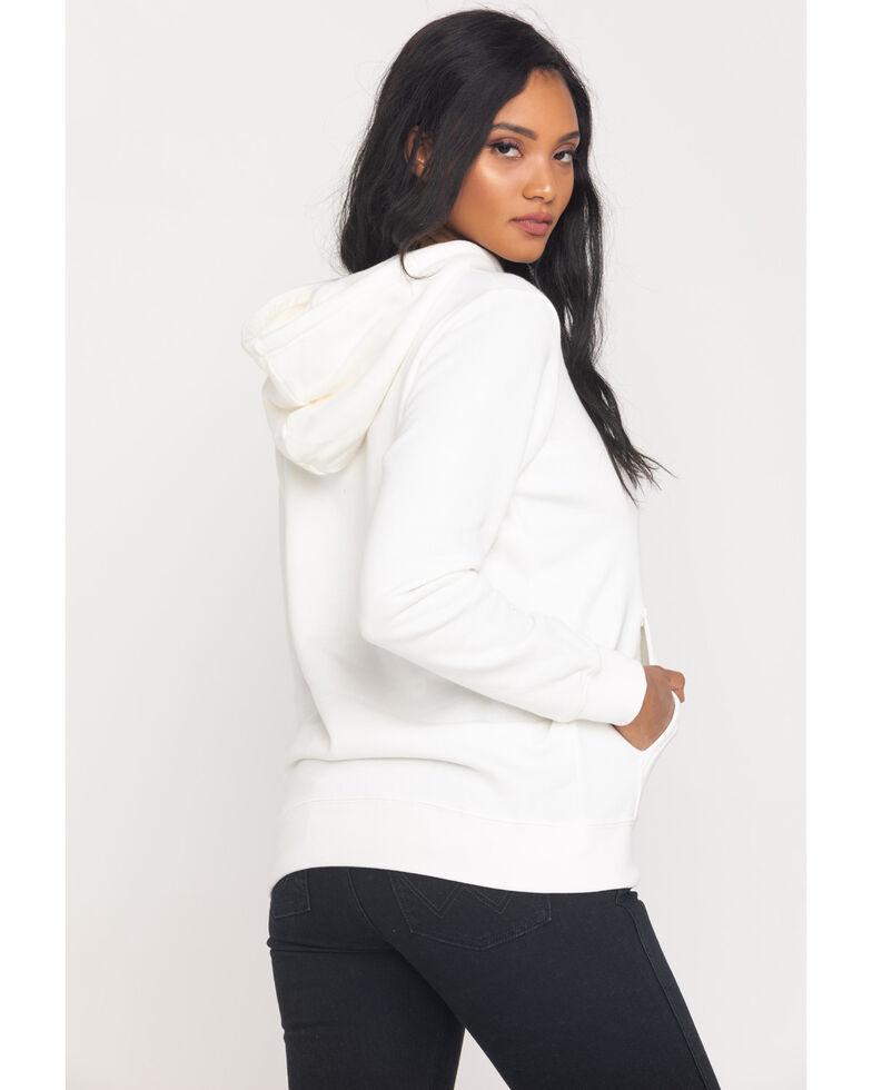 Wrangler Women's White Wired Logo Hoodie, White, hi-res