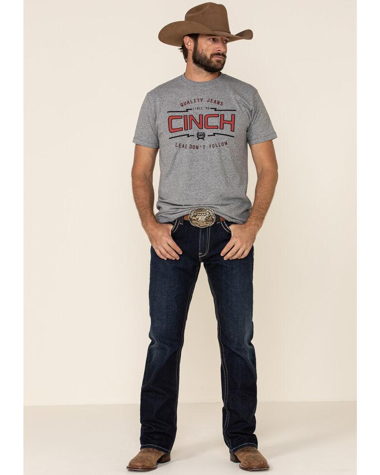 Cinch Men's Grey Logo Graphic T-Shirt , Grey, hi-res