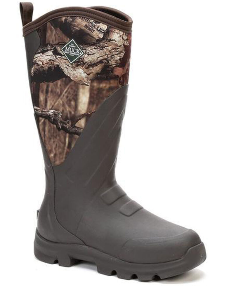 Muck Boots Men's Woody Grit Rubber Boots - Round Toe, Brown, hi-res