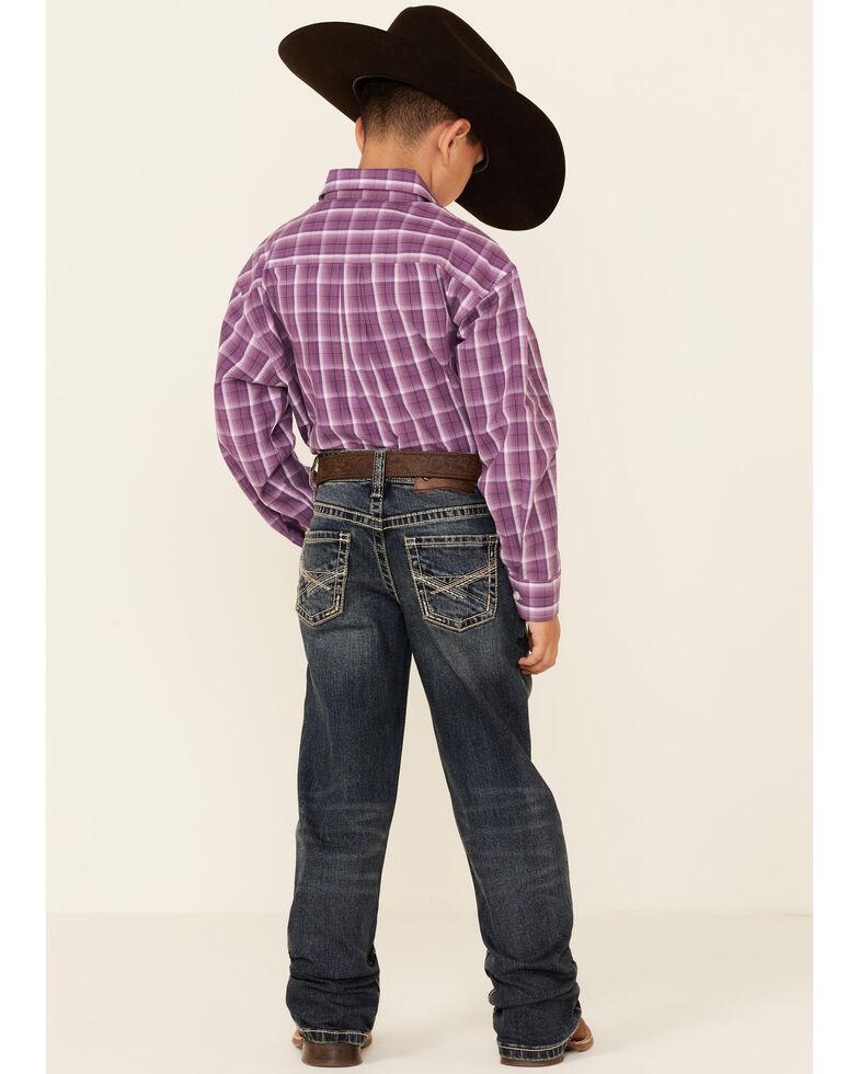 Rock & Roll Denim Boys' Dark Reflex Stretch Regular Bootcut Jeans , Indigo, hi-res