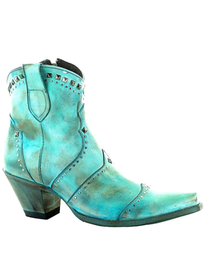 Old Gringo Women's Natasha Fashion Booties - Snip Toe, Turquoise, hi-res