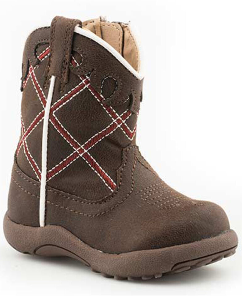 Roper Infant Boys' Yeehaw Western Boots - Round Toe, Brown, hi-res