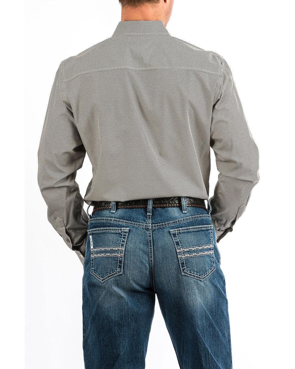 Cinch Men's Cream Modern Geo Print Long Sleeve Western Shirt , Cream, hi-res